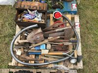 Pallet of Assorted Hand Tools and Parts