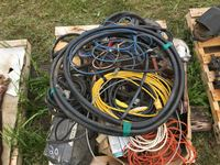 Pallet of Electrical Cords Wiring, Light, Hose etc.